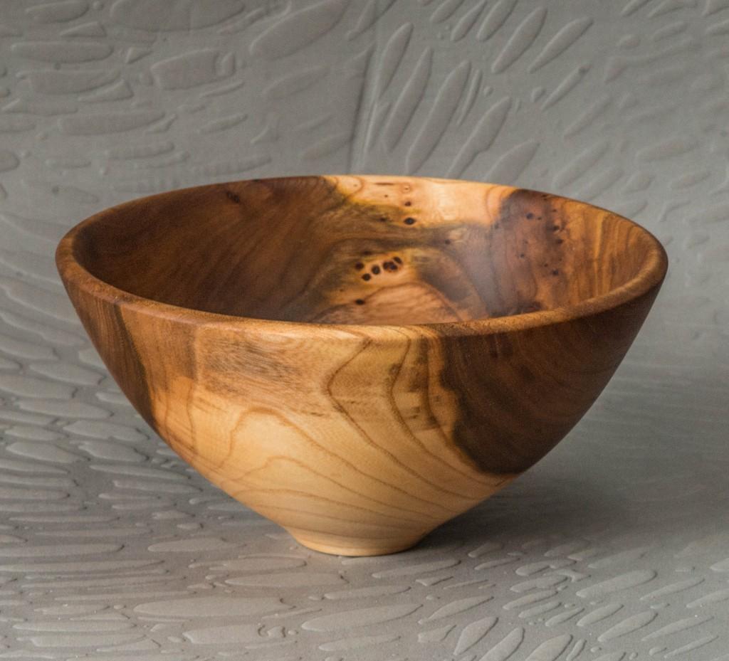 Image of figured elm bowl